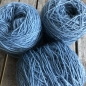 Preview: light blue wool yarn sewing weaving plantdyed