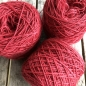 Preview: tomato red wool yarn sewing weaving plantdyed