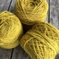 Preview: lemon yellow wool yarn sewing weaving plantdyed