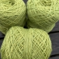 Preview: light green wool yarn sewing weaving plantdyed