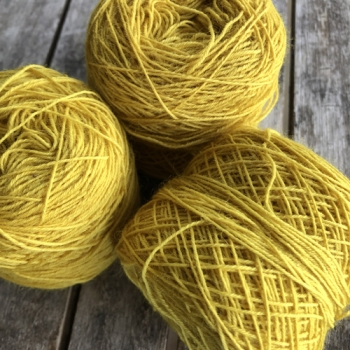 20/4 Sewing, Weaving Yarn wool, lemon yellow