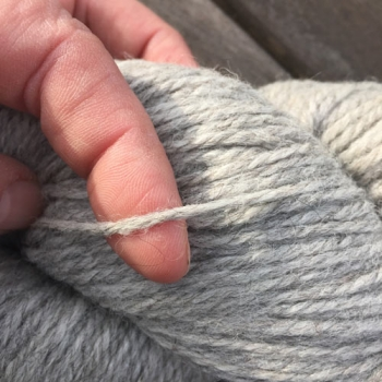 Soft new wool yarn 6/3, natural colour light grey