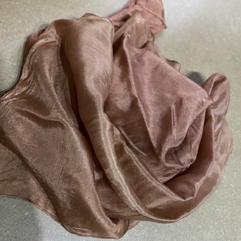 Silk scarf natural dyed redbrown