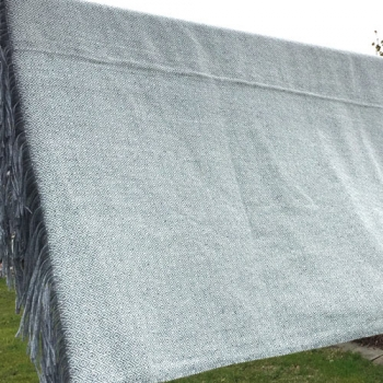 Diamondtwill wool blanket typ 1 grey, handwoven, 100% wool