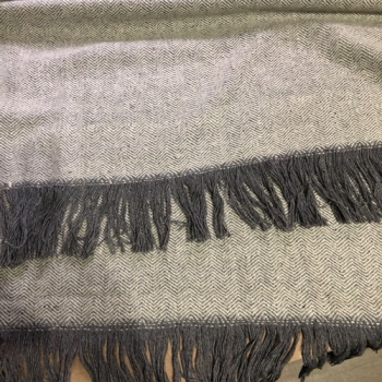 Pointed Twill wool blanket typ 1 grey, handwoven, 100% wool