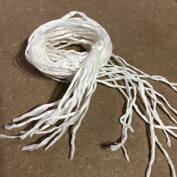 Silk strings white, 12pcs, 105cm
