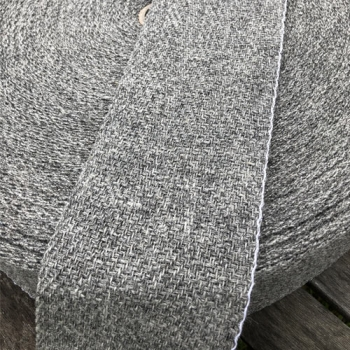 Leg Wrap nature darkgrey, Herringbone 10cm