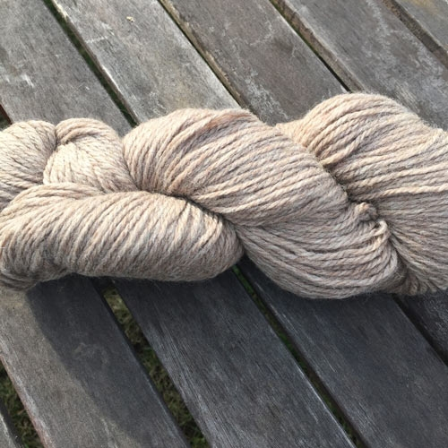Soft new wool yarn 6/3, natural colour beige