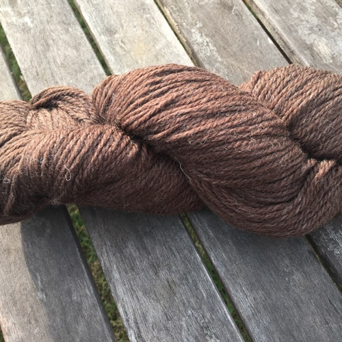 Soft new wool yarn 6/3, natural colour brown