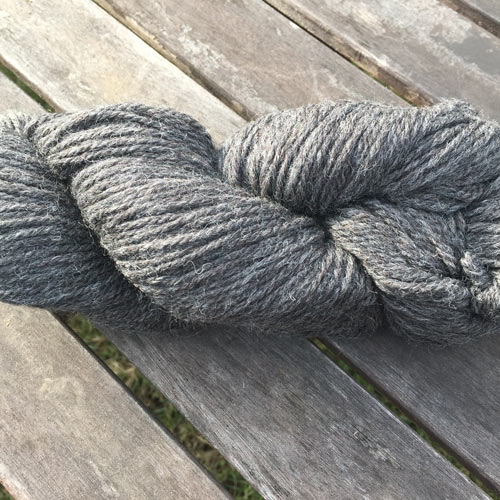 Soft new wool yarn 6/3, natural colour dark grey