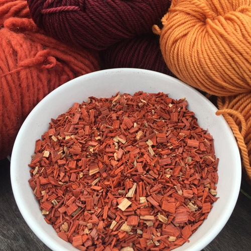 Santal - red sandalwood, chopped
